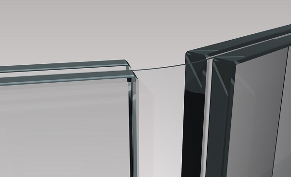 12 Thanks to its stability and bending properties, thin glass may also be thinkable, for instance, for connecting hinges in structural glass engineering. (Photo credit: Timon Peters, Technical University of Darmstadt)