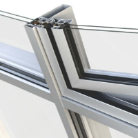 Concealed tilt & turn window