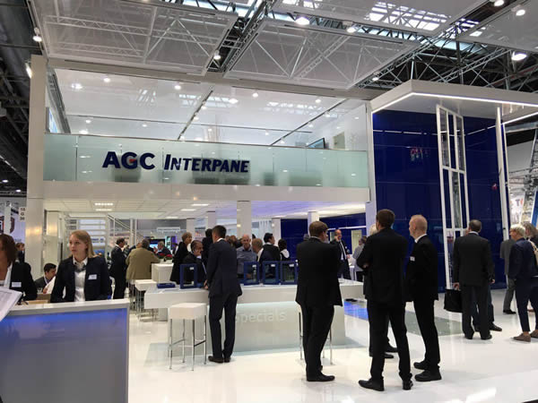 Discuss the latest innovations in glass at the AGC Interpane booth in Hall 10, Stand G30.