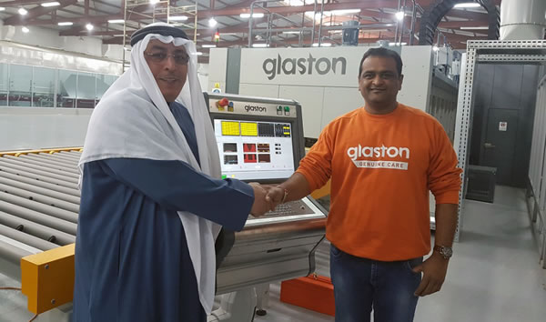 From left: Abdullah Al-Qabandi, General Manager of G.M Al-Hadi Glass Industries & Rajesh Sriramulu, Glaston