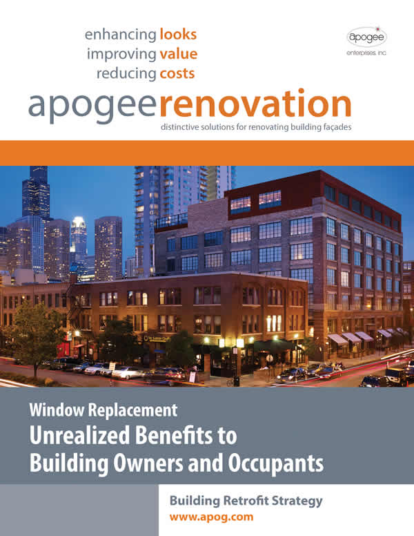 "Apogee's Building Retrofit team publishes ""Window replacement: Unrealized benefits to building owners"""