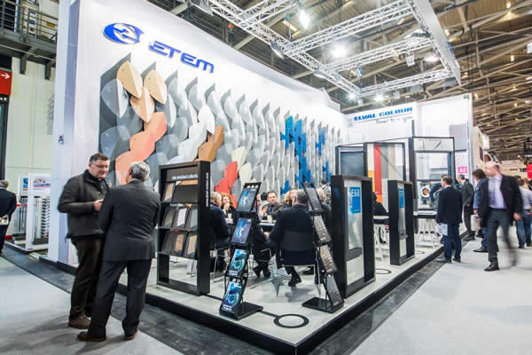 ETEM's parametric booth earned the admiration of visitors of BAU 2017 exhibition