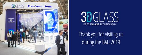 Press Glass at The BAU 2019 Fair