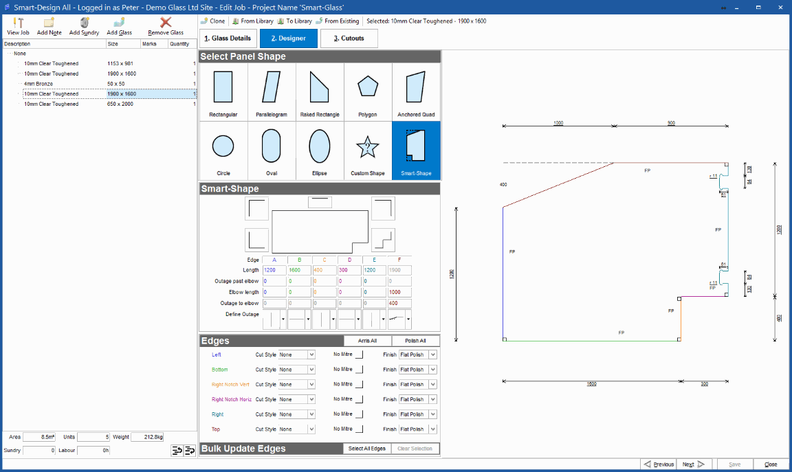 Design and Calculate Glass panels in a flash