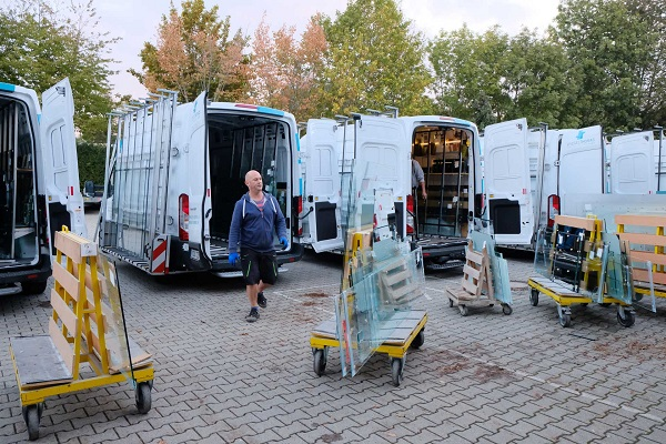 Loading of the Sprinter fleet: batch size 1 is the rule at Spiegel Thomas