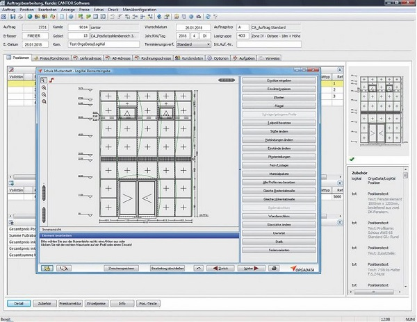 LogiKal construction software in A+W Cantor
