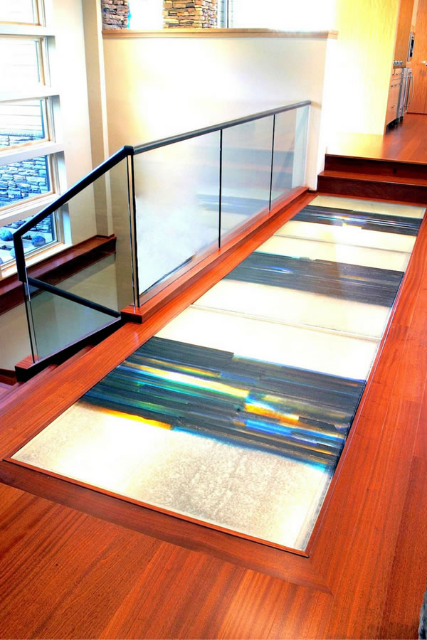 "Can I get different colored designs or ""crystal"" clarity in glass floors?"