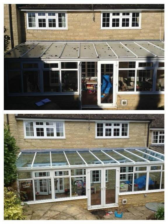 Conservatory - before and after