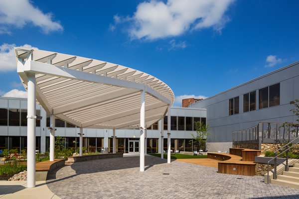 Delaware Tech's courtyard canopy by EXTECH Inc.