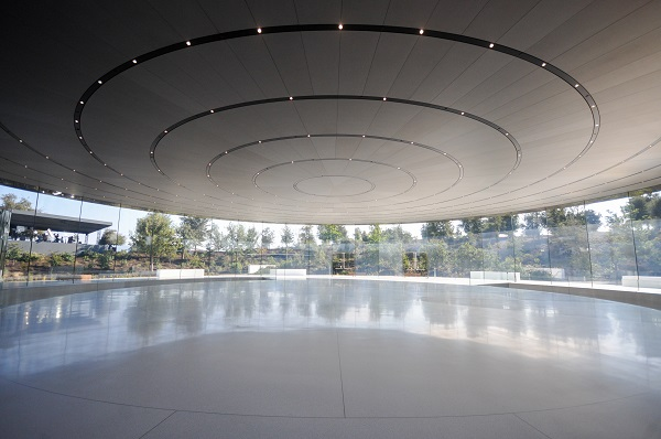 Winner in the Engineering category was the Steve Jobs Theater Pavilion at Apple headquarters in Cupertino, California, USA, by London-based architects and engineers Eckersley O'Callaghan. (photo: © Eckersley O'Callaghan)