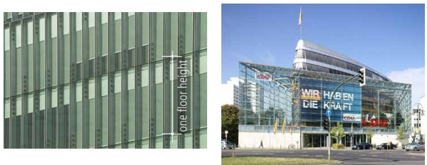 Fig. 1. Supreme Court in the Hague (arch. by KAAN Architecten, 2015) Fig. 2 CDU headquarters in Berlin (arch. Petzinka and Partners, 2001)