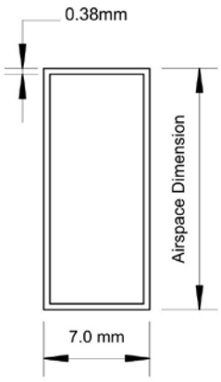 Figure 1. Typical Spacer Dimensions Assumed for Model