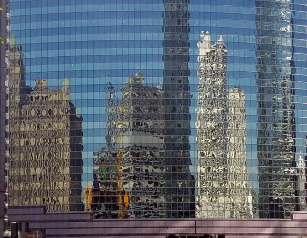 Figure 2: Examples of bad visual quality of facades and tempered glass in Chicago