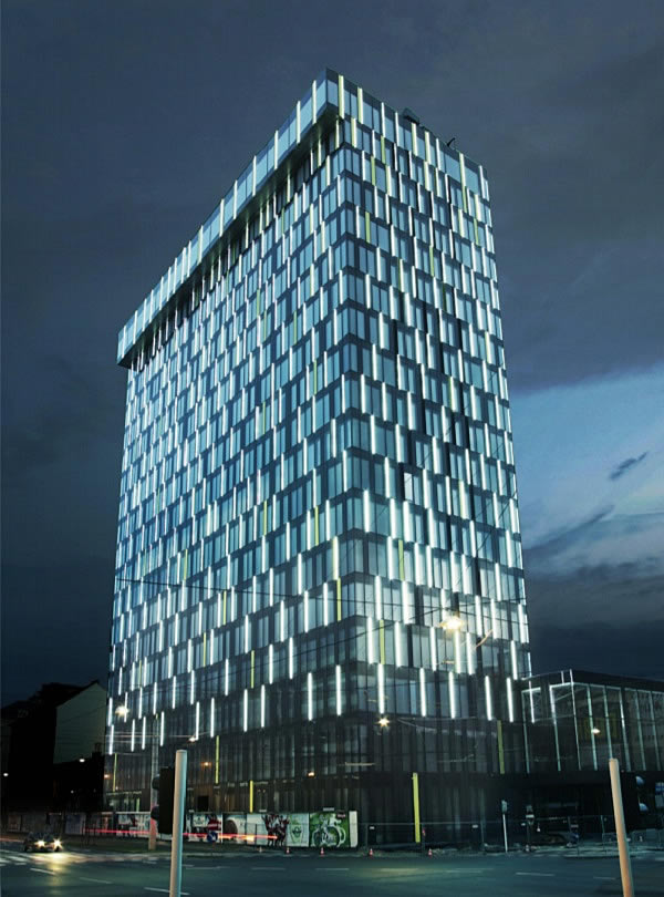 Figure 2: Power Tower Linz (Source: Energy AG)