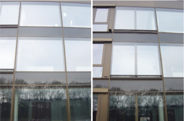 Figures 3 and 4: InHaus 2 Duisburg (left picture shows the CCF, the right one shows the Double Skin Façade)