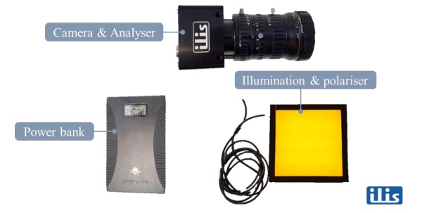 Fig. 6 Components of the mobile measuring device.