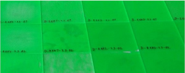 Figure 6   Durability samples with liquid paint