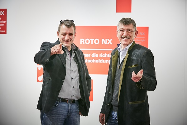 "All in all, Joachim (right) and Florian Haller consider ""Roto NX"" to be a ""great thing."" For the managing directors of Haller Fensterbau GmbH in the Swabian town of Schorndorf, Germany, the hinge side P for PVC windows is among the innovations offering tangible benefits, as it ensures security with increased sash weights. Photo: Roto"