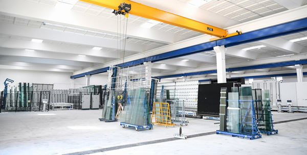 Forel Automated Glass Sheets Storage and the Vertical Cutting Line (Edil Vetro-Italy)