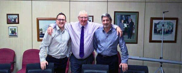 From left: Daniel Harrendence, Sales Director; Steve Larvin, Managing Director & Gary Wilton, Commercial Operations Director.
