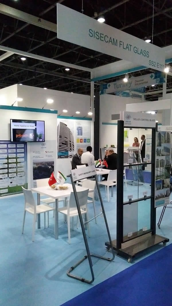 Şişecam Flat Glass introduced its high technology products at The Big 5 Show 2017