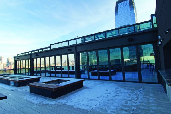 Hyatt House Jersey City opens with a fantastic retractable rooftop lounge