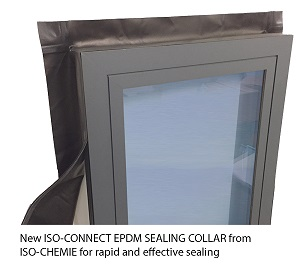 INSTALL 6 TIMES FASTER WITH THE ISO-CONNECT EPDM SEALING COLLAR AND SEALING CORNERS!