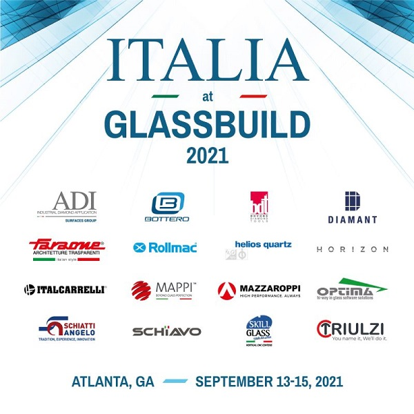 """The """"MADE IN ITALY"""" machinery hits Glassbuild 2021"""