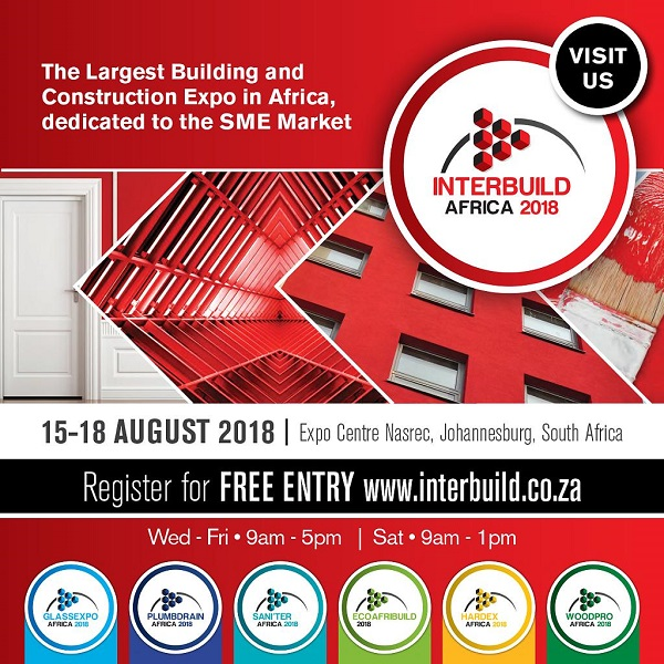 Interbuild Africa 15 - 18 August 2018 - opens next week