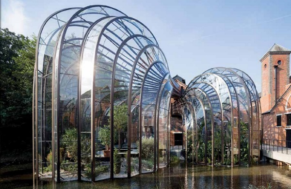 The greenhouses at the Bombay Sapphire distillery are a perfect marriage of form, fit and function.