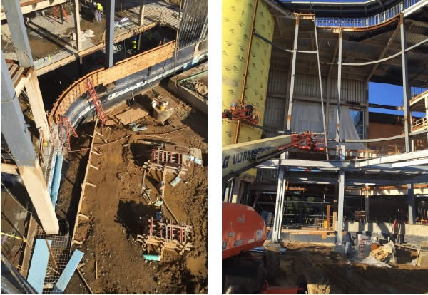 Construction progress images | courtesy Guthrie Glass