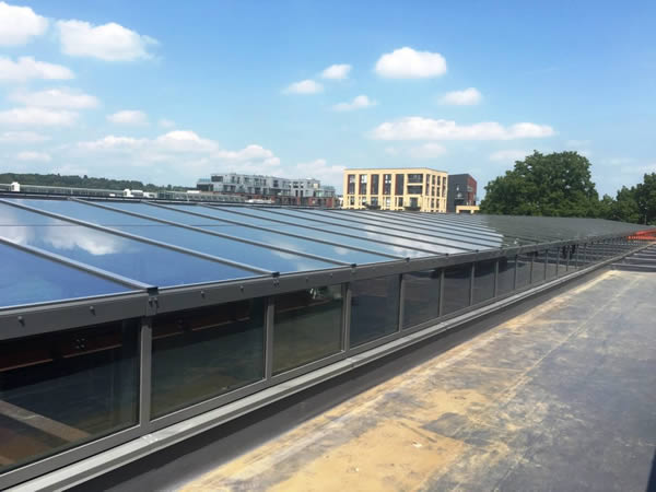 Bespoke skylights installed by Roofglaze at London Academy