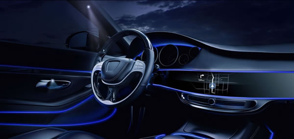 Automotive Multi Light 1&2: flexible wave guides for interior accents (© Schott AG)