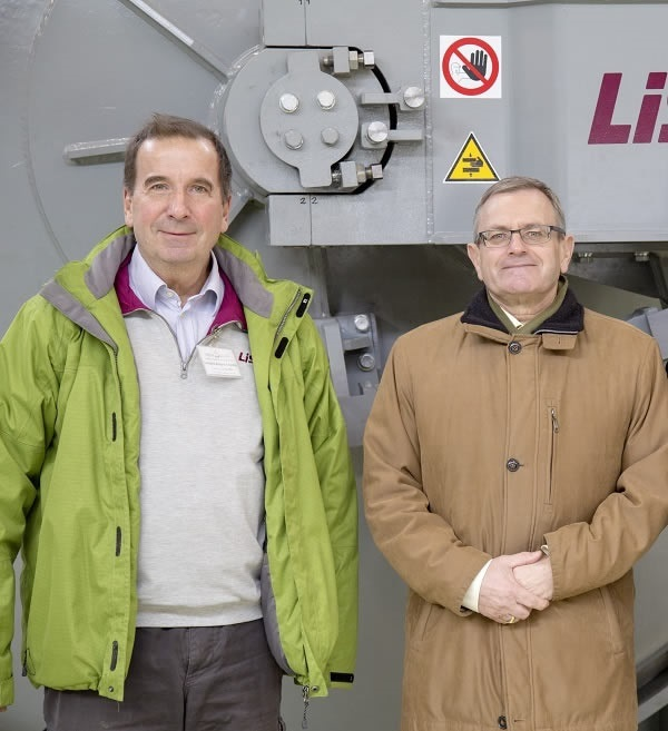 Kristof Fabian, LiSEC Sales Agent in Hungary, with Istvan Toth, General Director of OROShazaGLAS