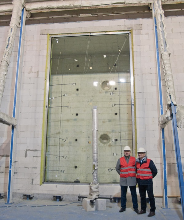 This is the largest fire-resistant glass!