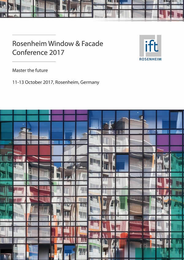 45th rosenheim window and facade conference 2017. Black Bedroom Furniture Sets. Home Design Ideas