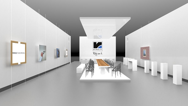 Exhibition Stand Minimalist : Renolit at fensterbau frontale a platform for all
