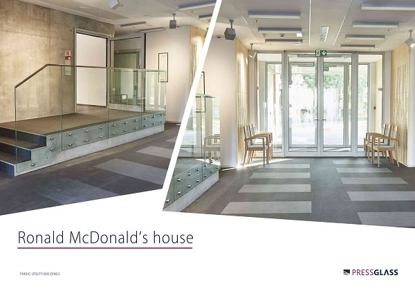 Ronald McDonald's house with PRESS GLASS panes