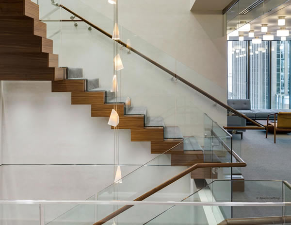Floating Spiral Staircase With Glass Railing Increases