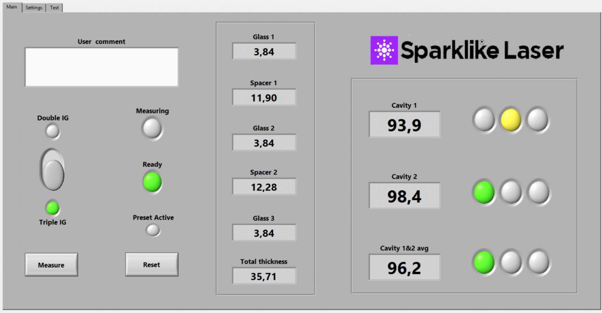 Example results on Laser software by Sparklike