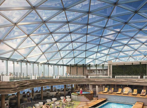 The SkyDome during the day. Image © P&O Cruises