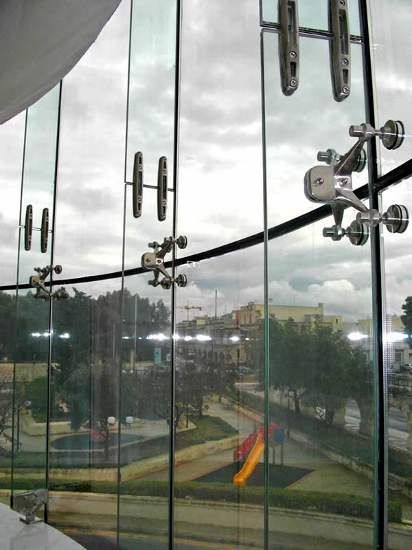 Spider Curtain Wall System : Spider glass curtain walls bolted point fixed glazing