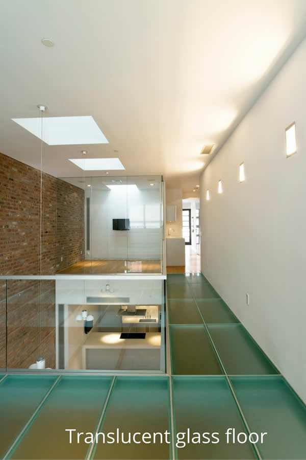 Translucent glass floor