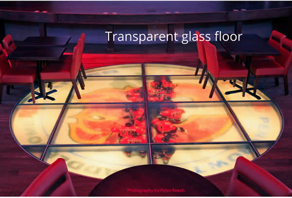 Transparent glass floor