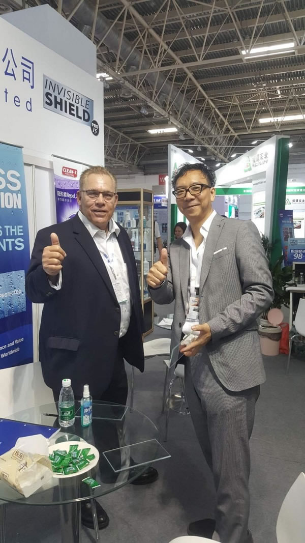 Unelko Corporation's Invisible Shield® PRO 15 & REPEL® Protective Glass Coatings featured at China Glass 2019