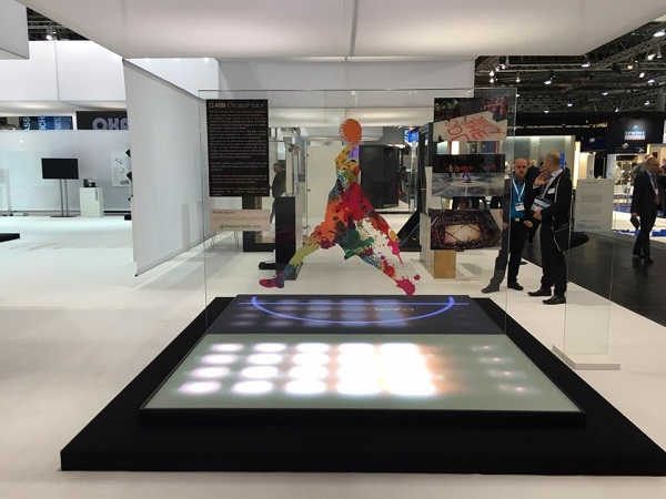 The sport glass floors of ASB Glassfloor in Hall 11 Stand D42.