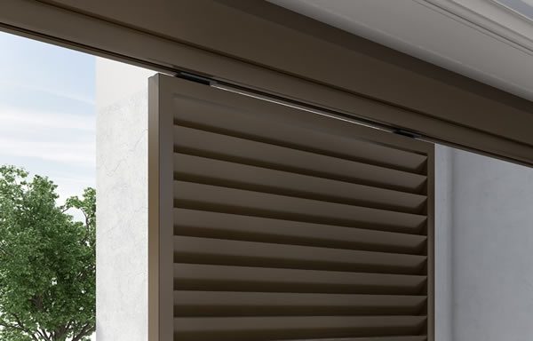 Hanging shutters of vertical shading