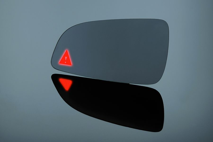Exterior rearview mirror – selective ablation for light transmission, e.r. automotive assist systems, day & night