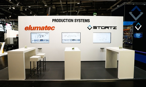 Joint trade fair booth elumatec AG and Stürtz Maschinenbau GmbH Image copyright: elumatec AG, Mühlacker