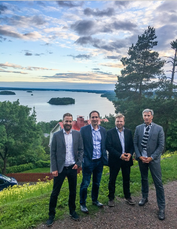 Nightless night in Tampere with Rottle & Rüdiger's Managing Director Mr. Roland Rottle,  Mr. Andreas Kotzke and Sparklike's CEO Mr. Miikkael Niemi and Sales Director  Mr. Mauri Saksala